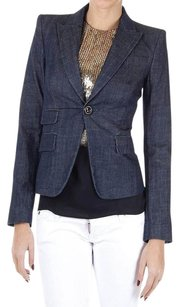 DSquared Blue Stretch Denim Blazer