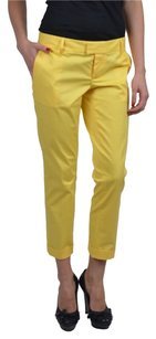 DSquared Capris Cropped Relaxed Pants Yellow