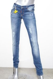 DSquared Womens Blue Cotton Skinny Jeans