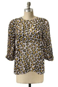 DV by Dolce Vita Woven Sacha Leopard Tulip Back Urban Outfitters Sheer Top Multi-Color