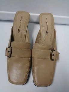 Easy Spirit Buckle Beige Mules