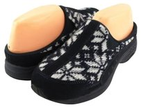 Easy Spirit Travel Time Black Multi Suede Designer Comfy Slip Navy/ Multi Flats