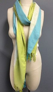 Echo Echo Colorblock Scarf W Crochet And Fringe 100 Polyester 19 X 80 B2677
