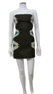 Ecote Faille Side Print Strapless Urban Outfitters Dress