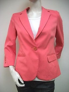 ecru Ecru Coral Fitted Spring Jacket Blazer 2171-ds Unlined 34 Sleeve