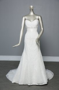 Eden Ivory Taffeta/Lace 2326 Traditional Wedding Dress Size 6 (S)