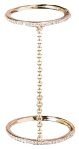 EF Collection EF Collection 14K Gold Pave Diamond Stack Chain Ring