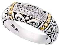 EFFY BALISSIMA BY EFFY 18K GOLD 925 ST SILVER DIAMOND ACCENT SWIRL RING