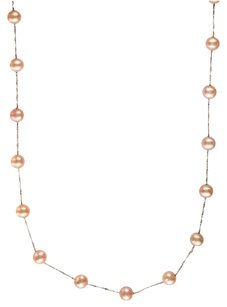EFFY EFFY 14K ROSE GOLD FRESH WATER PEARL STATION CHAIN NECKLACE 18
