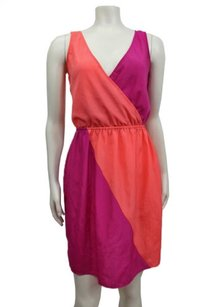 Eight Sixty Sixty Coral Sleeveless Angled Dress