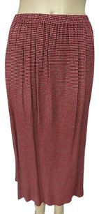 Eileen Fisher Red White Check Skirt Reds