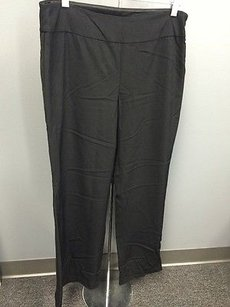 Eileen Fisher Wide Side Zip Viscose Wool Bi Stretch Sm4665 Pants
