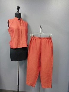 Eileen Fisher Eileen Fisher Burnt Orange Elastic Pant Waist Pants Suit Ps Sma8345