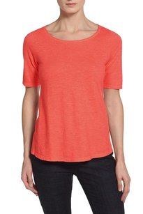 Eileen Fisher Vented Step Hem Swingy T Shirt Flora