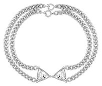 eklexic CRYSTAL BOW TIE NECKLACE (Gold)