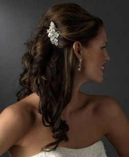 Elegance By Carbonneau Freshwater Pearl & Crystal Wedding Comb