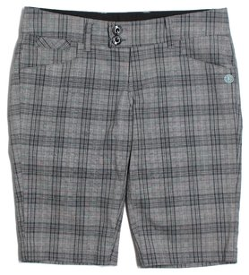 Element Bermuda Shorts Grey & Black Plaid