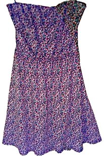 Element short dress Blue Multicolor Floral on Tradesy