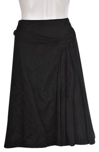 Elie Tahari Womens Metallic Casual Party Career Skirt Black