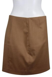 Elie Tahari Womens Wool Above Knee Mini Skirt Brown