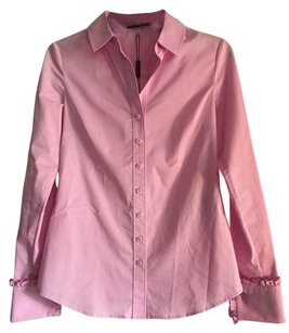 Elie Tahari Button Down Shirt Pink