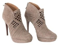Elie Tahari Suede Cutout Platform High Heel Nwd Taupe Boots