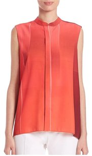 Elie Tahari Silk Tank Top Red