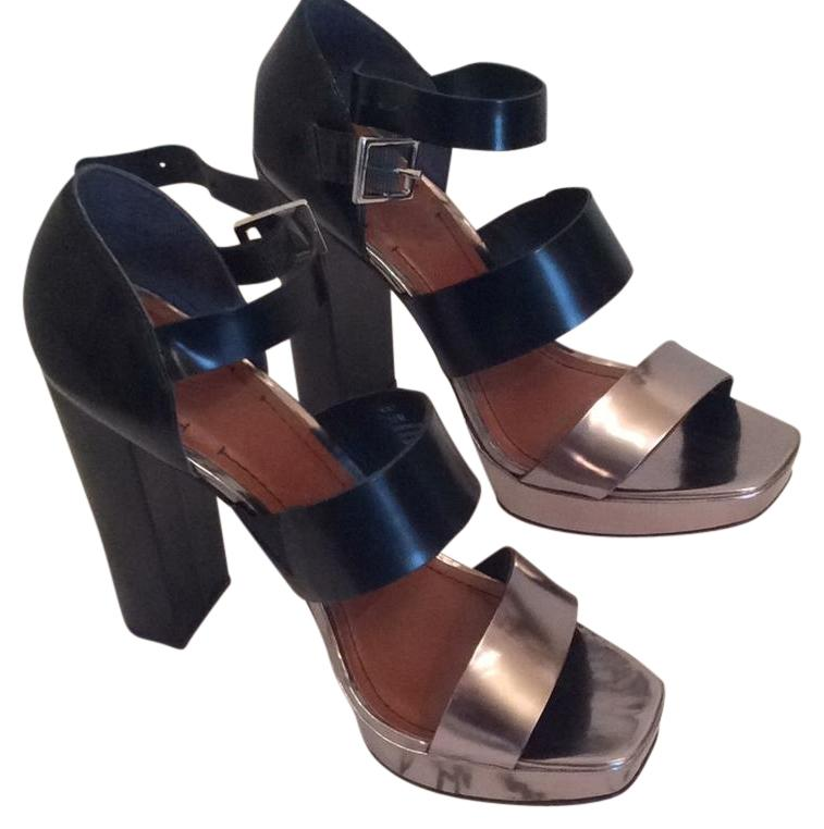 Elizabeth and James Metallic Snakeskin Sandals