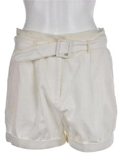 Elizabeth and James Casual Solid Shorts Ivory