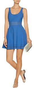 Elizabeth and James Fit Flare Perforated Dress