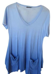 Ella Moss Ombre Resort Beach Cover Up Summer T Shirt Blue