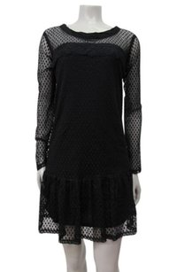 Ella Moss short dress black Long Sleeve Nikita Dot Lace on Tradesy