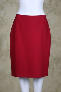 Ellen Tracy Petites Womens Skirt Red
