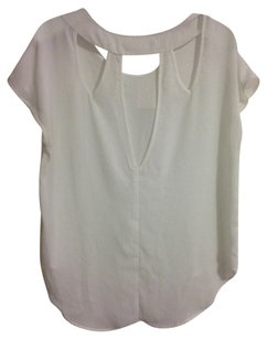 Elodie Nordstrom Cutaway Cut-out Top White