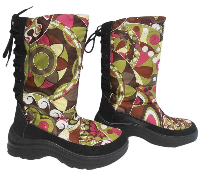 outlet ebay free shipping discount Emilio Pucci Printed Ankle Snow Boots sale from china r5jtQ