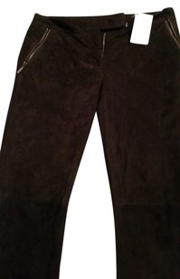 Emilio Pucci Skinny Pants dark green/brown SUEDE pants