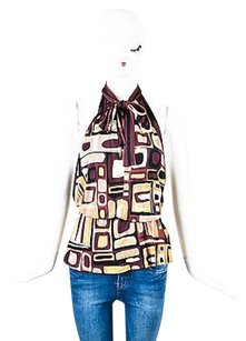 Emilio Pucci Brown Maroon Top Multi-Color