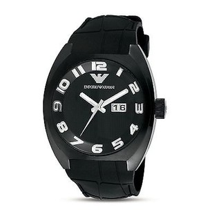 Emporio Armani Emporio Armani Ar5844 Date Black Rubber Band Sport Mens Watch Read Description