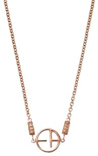 Emporio Armani Emporio Armani Revealed Rose Gold Tone Logo Necklace