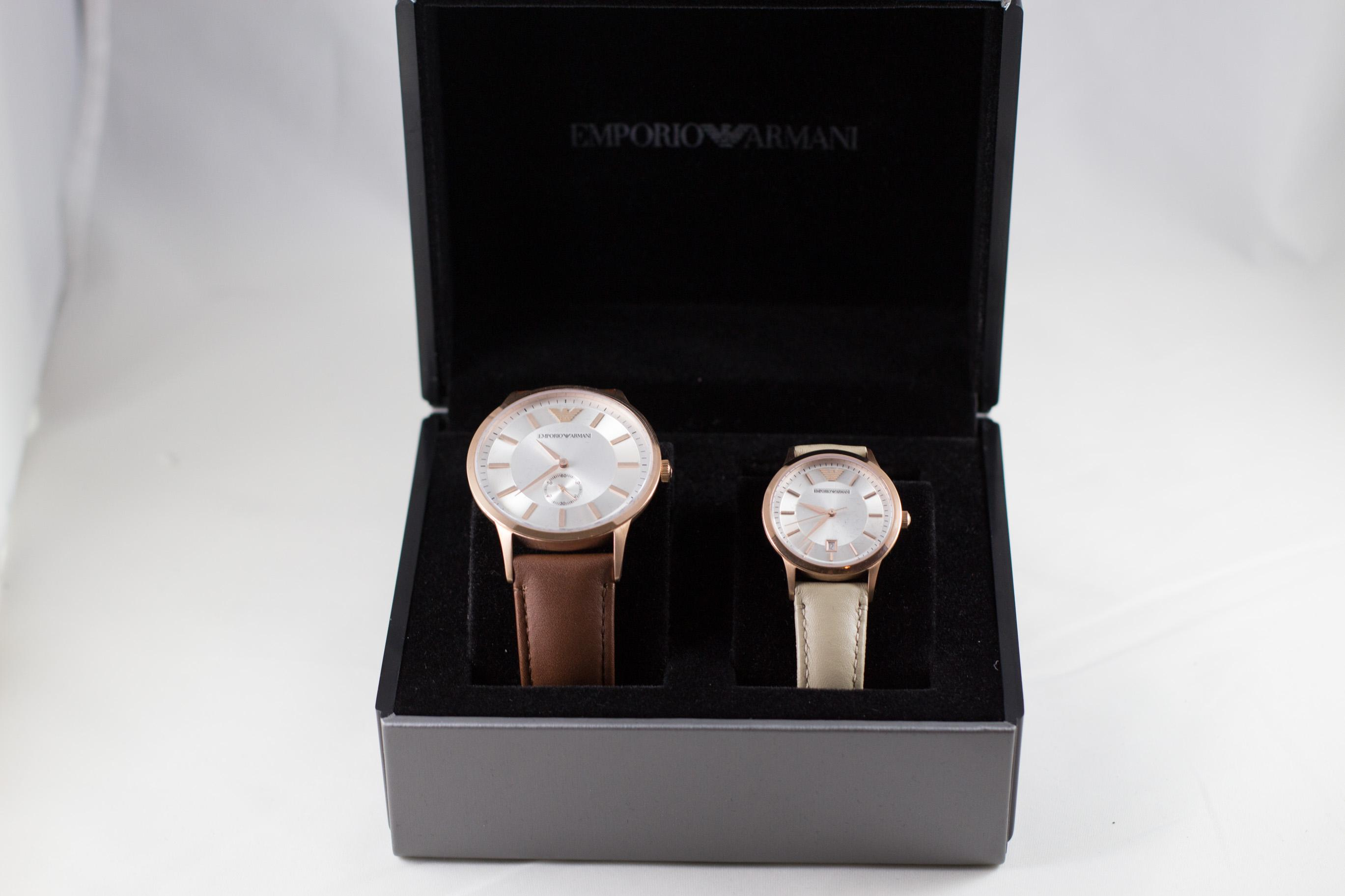 Mens and Ladies Emporio Armani Watch Gift Set BNIB on Tradesy