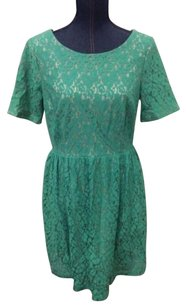 En Focus Studio short dress Green Lace on Tradesy