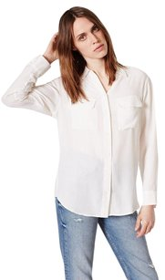 Equipment Femme Signature Top White