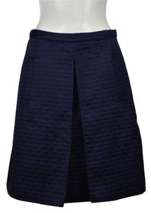 Erin Fetherston Erin Womens A Line Embroidered Knee Length Skirt Navy