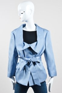 Escada Light Silk Woven Blue Jacket