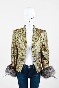 Escada Couture Metallic Gold Jacket