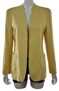 Escada Womens Blazer Yellow Jacket