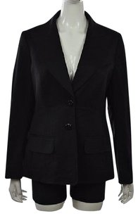 Escada Escada Womens Black Blazer Jacket Solid Wool Casual Outerwear