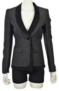 Escada Escada Womens Black Blazer Metallic Wool Wtw Jacket Coat