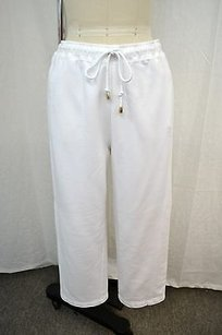Escada Escada Sport White Cropped Drawstring Sweat Pants