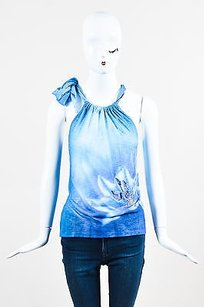 Escada Multicolor Terry Blue Halter Top